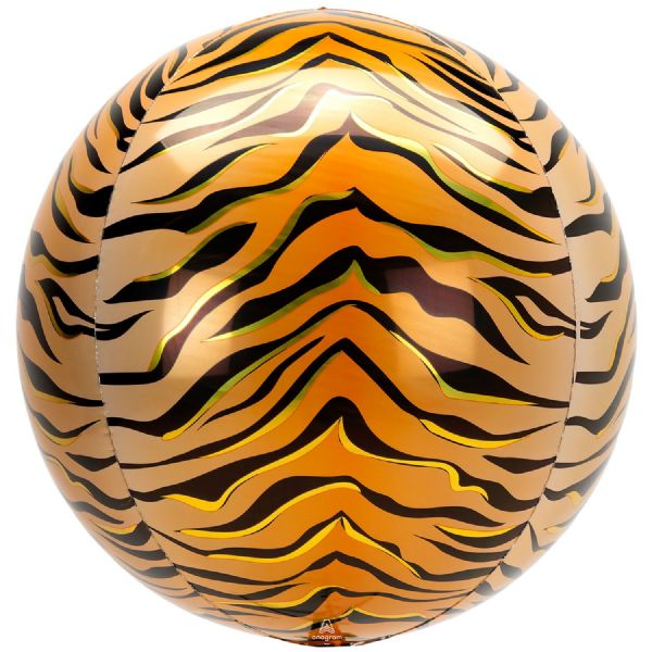Animalz Tiger Print Round Orbz 15in Balloon